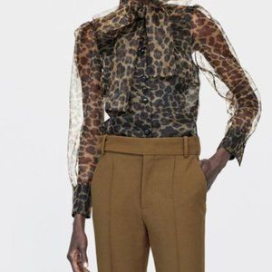 Zara animal print blouse new without tags S